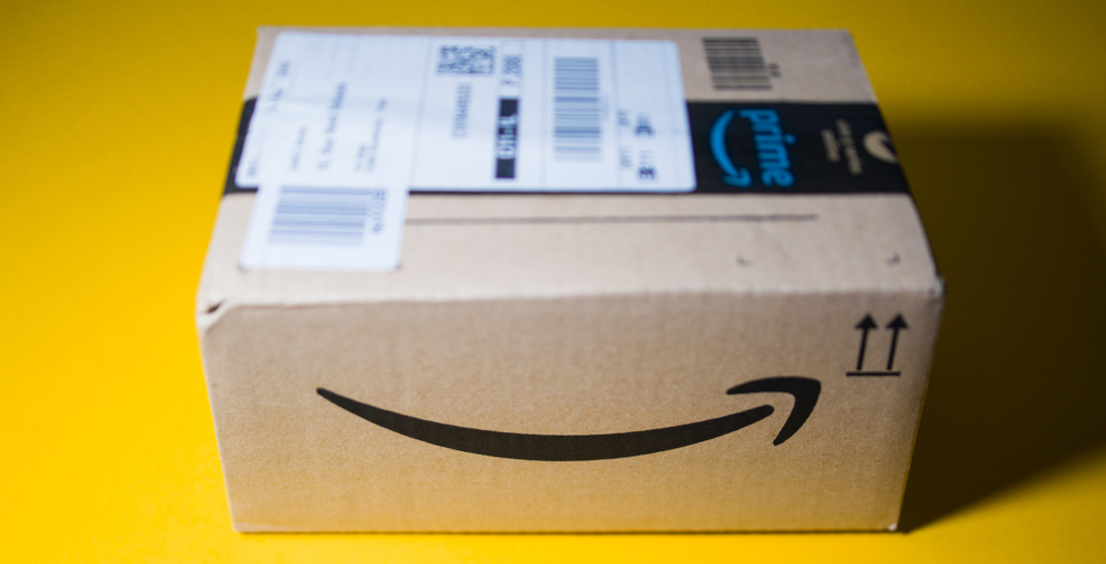 Famous amazon smile design on parcel