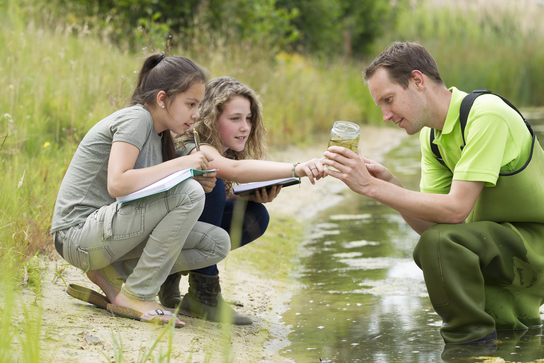 Students undertaking fieldwork
