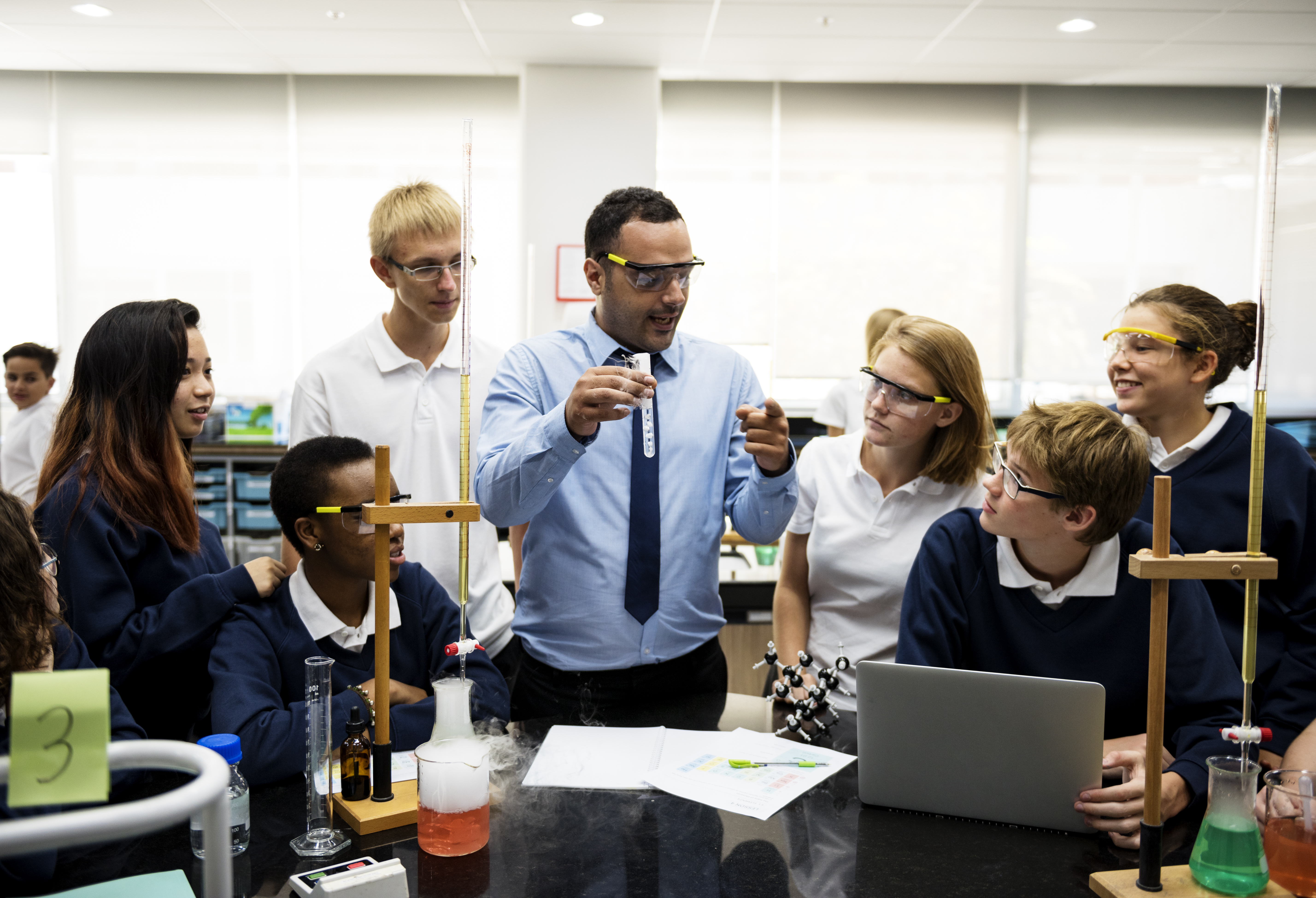 Science Teacher Talking
